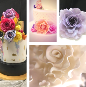 handmade edible wedding cake flowers