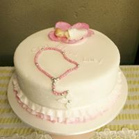 Baptismal cake for girl